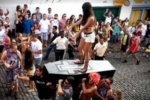Veja galeria de fotos do carnaval em Belo Horizonte e Ouro Preto (Laura de Las Casas / G1)