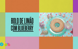 Bolo de Limão com Blueberry
