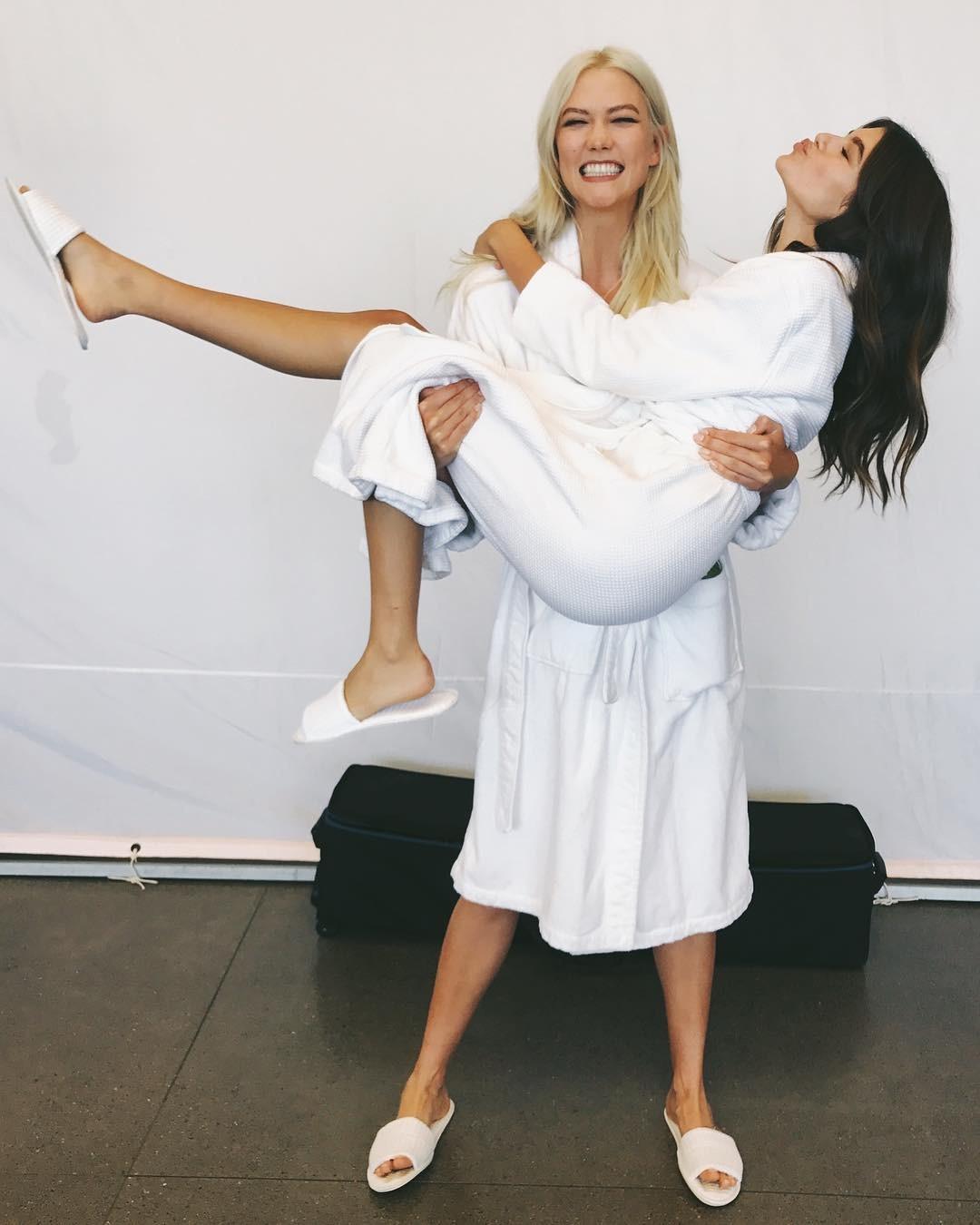 Kaia Geber e Karlie Kloss (Foto: Reprodução/ Instagram)