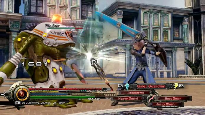 As batalhas em Lightning Returns são dinâmicas e exigem destreza. (Foto: Reprodução)