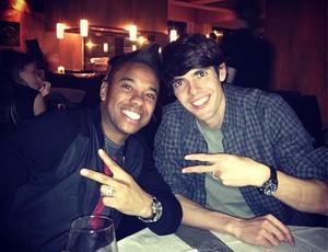 Robinho e Kaká (Foto: Reprodução / Instagram)