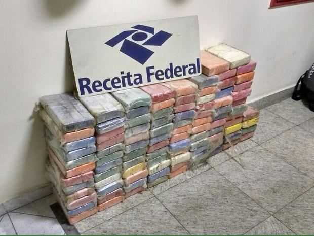 Receita Federal encontra drogas em contêiner em Santos (Foto: Divulgação/Receita Federal)