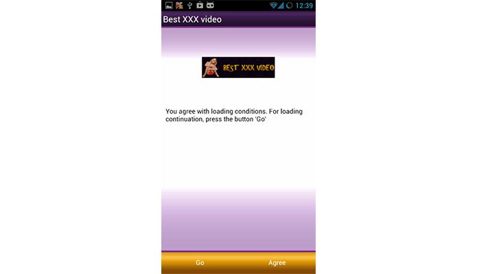 App pornográfico esconde vírus que contrata serviços promocionais via SMS (Foto: Divulgação/Kaspersky)