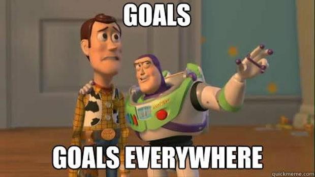 Gols, gols por todos os lugares (Foto: Reprodução)