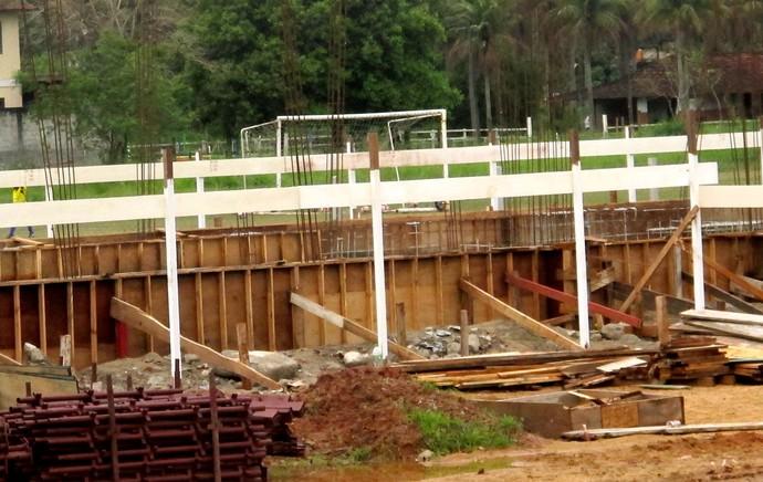Obvras ninho do Urubu Flamengo (Foto: Globoesporte.com)