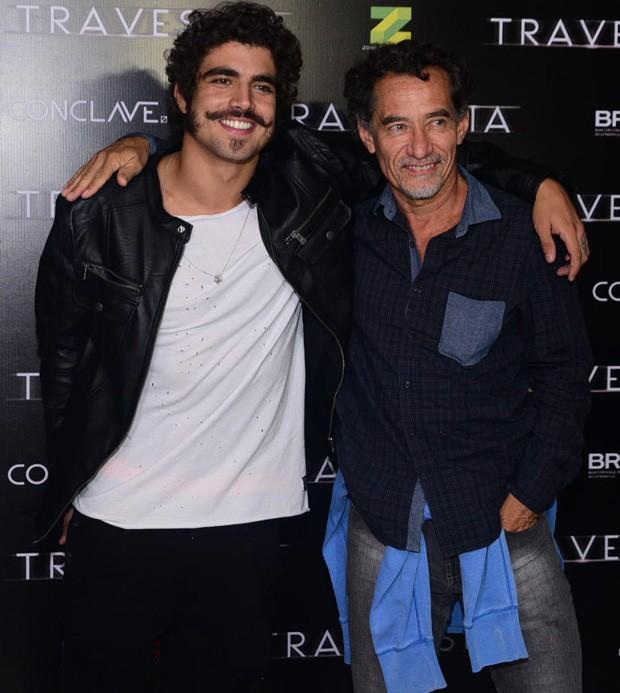 Caio Castro e Chico Diaz (Foto: Leo Franco/AgNews)