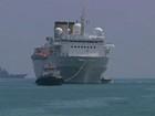 Passageiros quase foram tirados de cruzeiro italiano à deriva, diz capitão