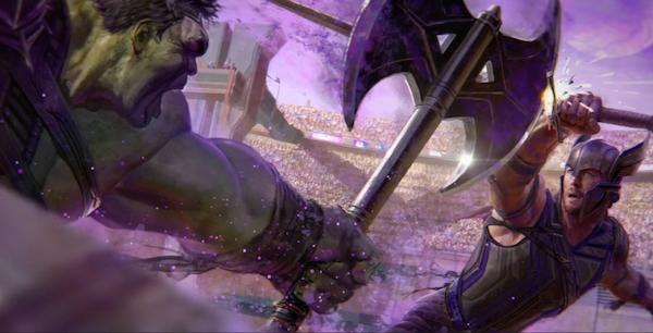 O confronto entre Hulk e Thor em 'Thor 3: Ragnarok' (Foto: Divulgação)