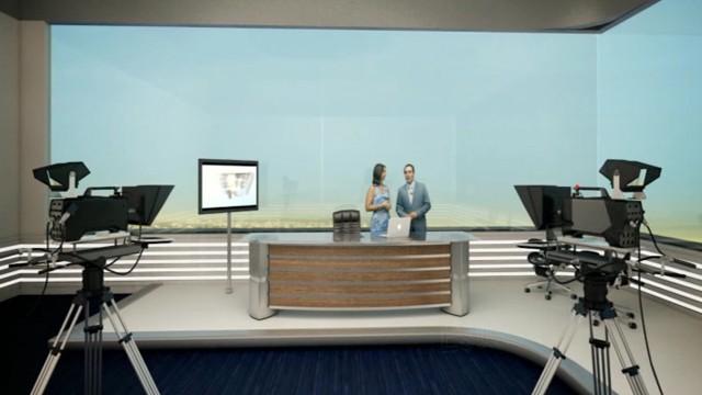 Estúdio Glass da Nova Sede da TV Tribuna (Foto: Divulgação)
