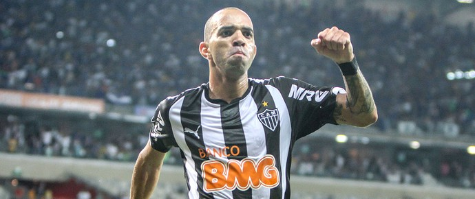 diego Tardelli comemora gol do Atlético-mg contra o Cruzeiro (Foto: Bruno Cantini / Flickr do Atlético-MG)