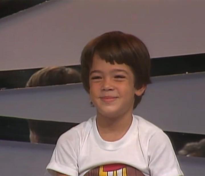Bruno Mazzeo deu um show de fofura no programa Os Trapalhões de 1982 (Foto: Vídeo Show / Gshow)