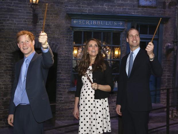Kate Middleton, Principe William e Principe Harry (Foto: Reuters / Agência)