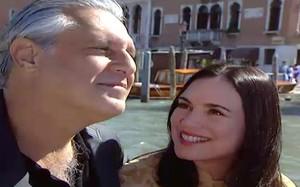 Helena e Atílio curtem Veneza