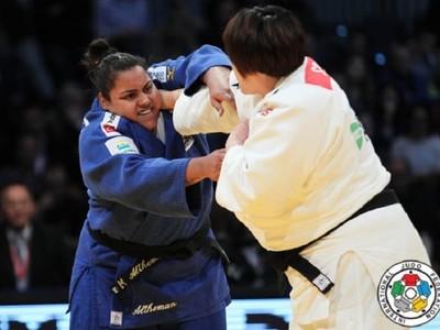 Maria Suelen ficou com a medalha de prata no GP da Geórgia (Foto: Divulgação)