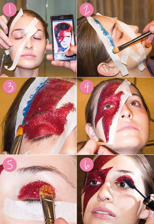 Passo a passo: maquiagem Carnaval - Tô de Bowie (Foto: Eduardo Garcia/ Ed.Globo)