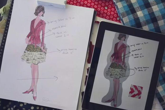 Exemplo de desenho feito com a Equil Smartpen do papel para o tablet (Foto: Divulgação) (Foto: Exemplo de desenho feito com a Equil Smartpen do papel para o tablet (Foto: Divulgação))