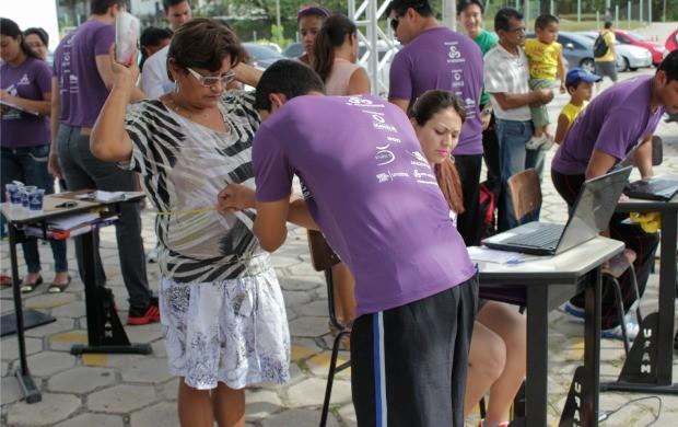 Evento teve avaliação física grátis (Foto: Marcos Dantas)
