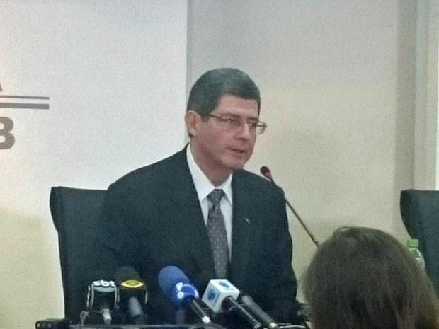Ministro da Fazenda, Joaquim Levy, comentou abertura do processo de impeachment contra Dilma Rousseff (Foto: Taís Laporta / G1)