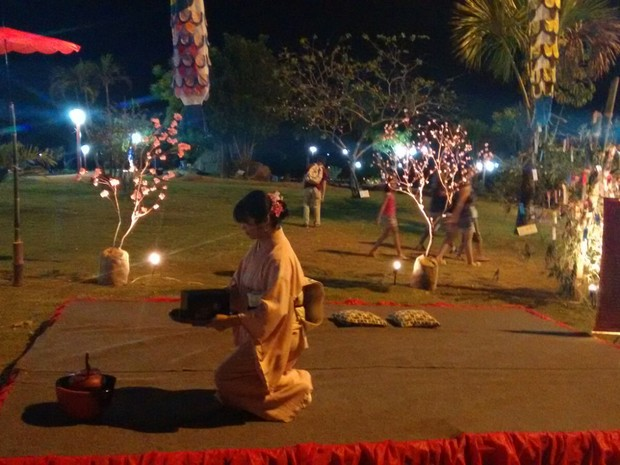 Além de exposições, festival teve cerimônia do chá (Foto: Gabriela Lago/G1)