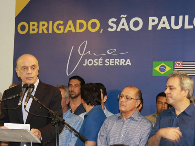 José Serra faz discurso após derrota em São Paulo (Foto: Germano Assad/ G1)