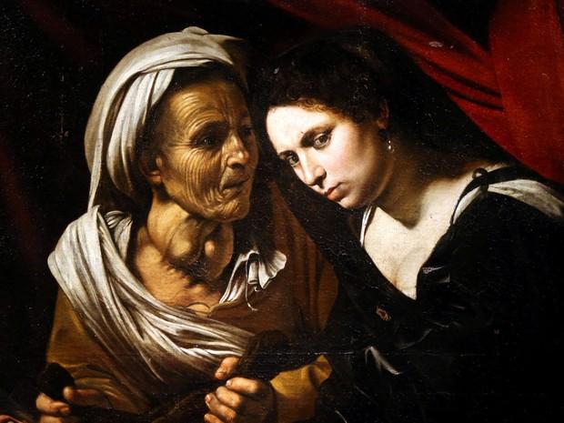 Pintura seria do italiano Caravaggio e recria cena bíblica do general assírio Holofernes por Judite (Foto: Charles Platiau/Reuters)