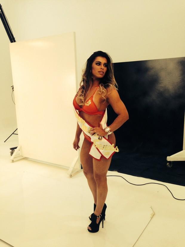 Bastidores do primeiro dia de ensaio das candidatas do Miss Bumbum Brasil (Foto: Divulgação MBB4)