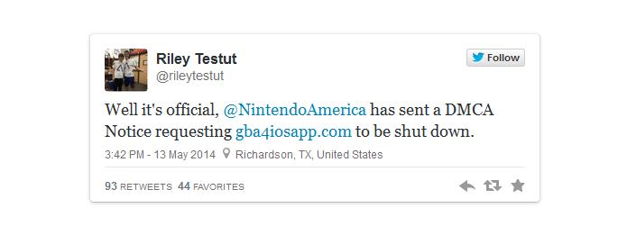 Tuite anunciando a desativação do download do emulador (Foto: Reprodução/Edivaldo Brito)
