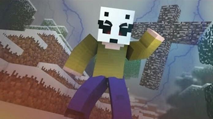 O Lick é uma das mais novas lendas de Minecraft nos moldes do já conhecido Herobrine (Foto: Reprodução/YouTube)