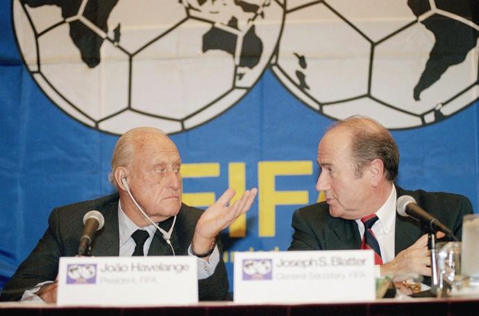 João Havelange Joseph Blatter 1994 (Foto: AP)
