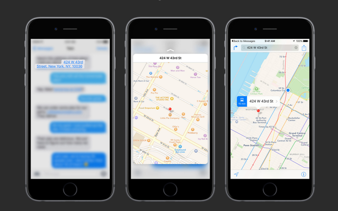 3D Touch do iPhone 6S oferecerá preview de mapas e sites da web (Foto: Reprodução/Apple)
