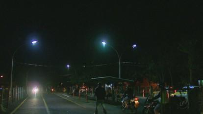 Local de aulas práticas de moto e carro volta a ter iluminação em São Carlos, SP