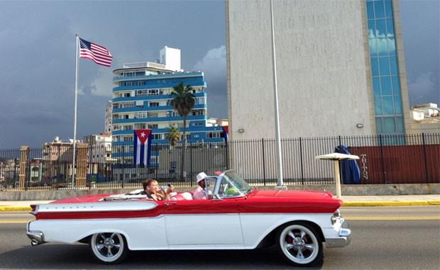 EUA reabriram a embaixada em Havana no dia 14 de agosto deste ano (Foto: Ana Carolina Moreno/G1)