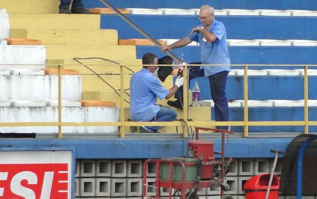 Estádio do Sesi, em Manaus (Foto: Fernando Martins / Globoesporte.com)