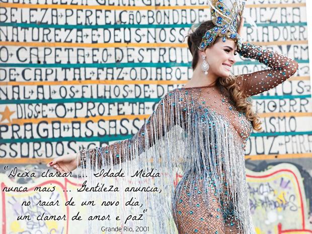 ENSAIO RAINHAS DE BATERIA - Rayanne Morais (ABRE) (Foto: Marcos Serra Lima / EGO)