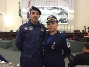 Guardas municipais cobram o cumprimento da Lei 13022 (Foto: Micaelle Morais/G1)