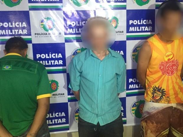 Os três detidos, entre 20 e 17 anos, confessaram o crime, diz polícia Goiânia Goiás (Foto: Divulgação/Graer)