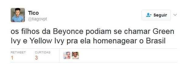 Anúncio da gravidez de Beyoncé agita internet (Foto: Twitter / Reprodução)