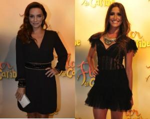 As atrizes em evento da novela (Foto: Reinaldo Marques/TV Globo)