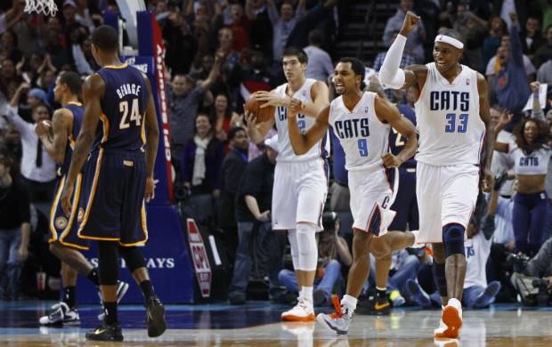 Charlotte Bobcats, comemoração pelo fim do jejum - AP (Foto: AP)