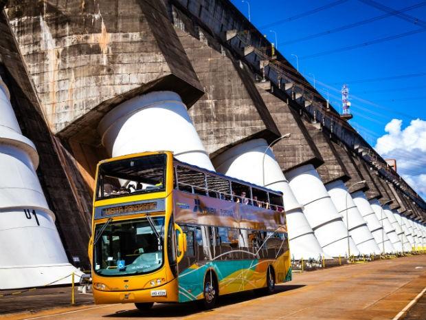 O número de ônibus também será maior para atender todos os visitantes (Foto: Itaipu Binacional/ Divulgação)