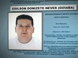 Homem preso no Sul de Minas era o 3º mais procurado da Polícia de São Paulo (Foto: Reprodução TV Globo)