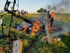 Ultraleve cai, explode e piloto morre carbonizado em Ji-Paraná, diz polícia