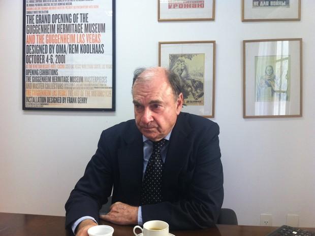 Cesar Maia em seu gabinete na Câmara de Vereadores do Rio (Foto: Priscilla Souza/G1)