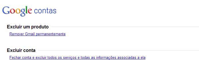 Excluindo Gmail permanentemente (Foto: Reprodução/Helito Bijora)