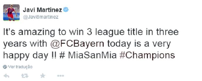 Javi Martinez Bayern de Munique