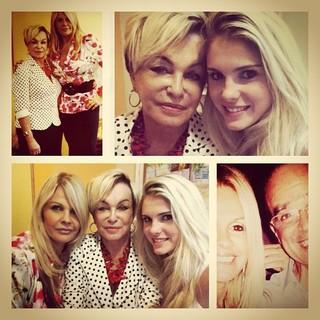 Monique Evans posta fotos com a mãe e a filha, Bárbara (Foto: Instagram)