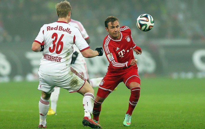 mario goetze Bayern munique x RB Salzburg (Foto: EFE)