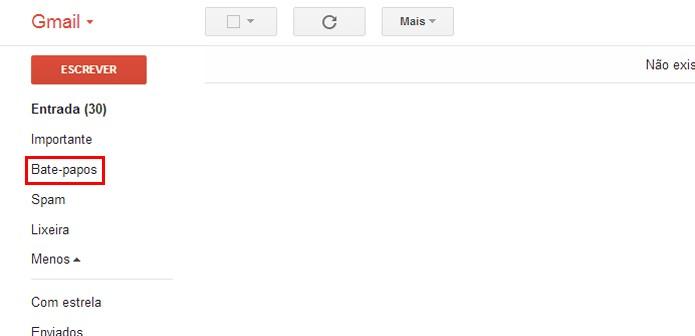 Acessando o histórico do Gtalk no Gmail (foto: Reprodução/Gmail)