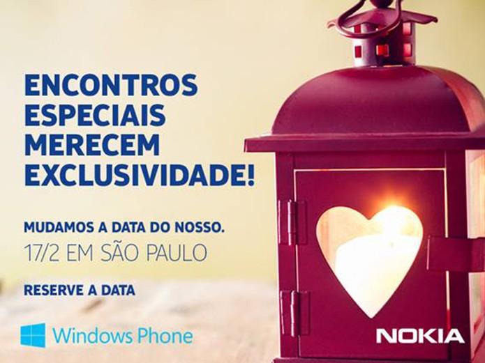 Nokia marca evento de possível lançamento de novos smarts com Windows Phone 8 (Foto: Divulgação)