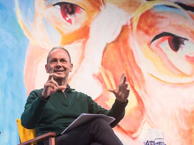 O crítico literário, ensaísta e músico José Miguel Wisnik em conferência na Flip (Foto: Divulgação/Flip)